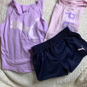 💞puma short/tee set for girls💞